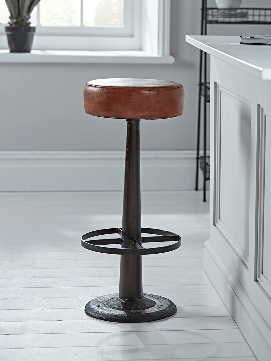 New Round Leather Bar Stool Sale Room Bar Stools Kitchen Bar