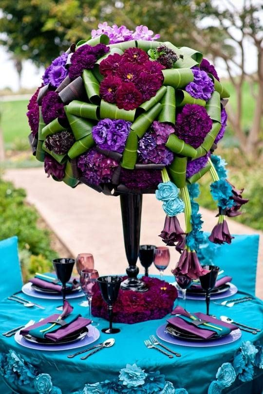 Purple And Teal Weddings Inspiration Of The Day A