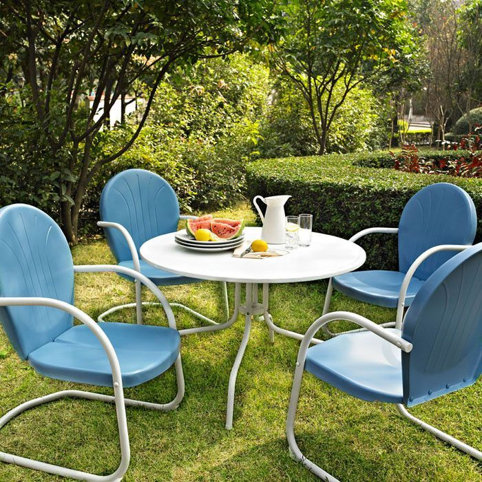 Crosley Furniture Kod1002wh Griffith Metal 40 Five Piece Outdoor