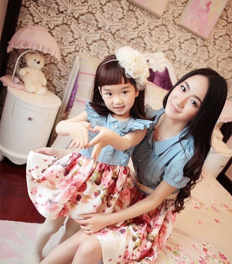 matching mom and daughter easter dresses  conjuntos madre