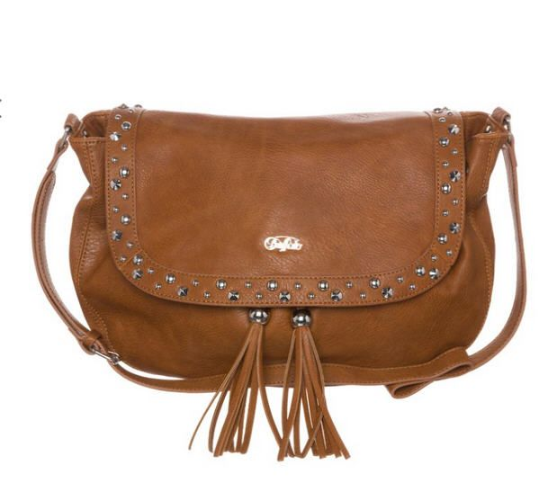 sac a main bandouliere marron