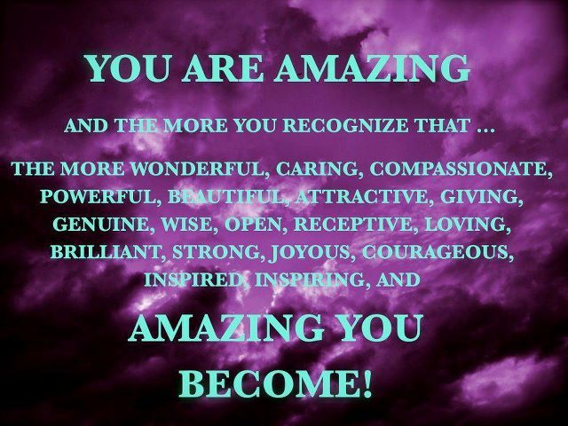 AMAZING YOU BECOME