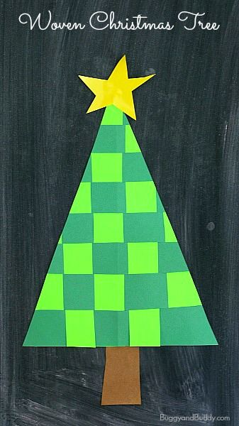 Christmas Crafts For Kids Woven Paper Christmas Tree Buggy And Buddy Christmas Tree Crafts Xmas Crafts Christmas Crafts