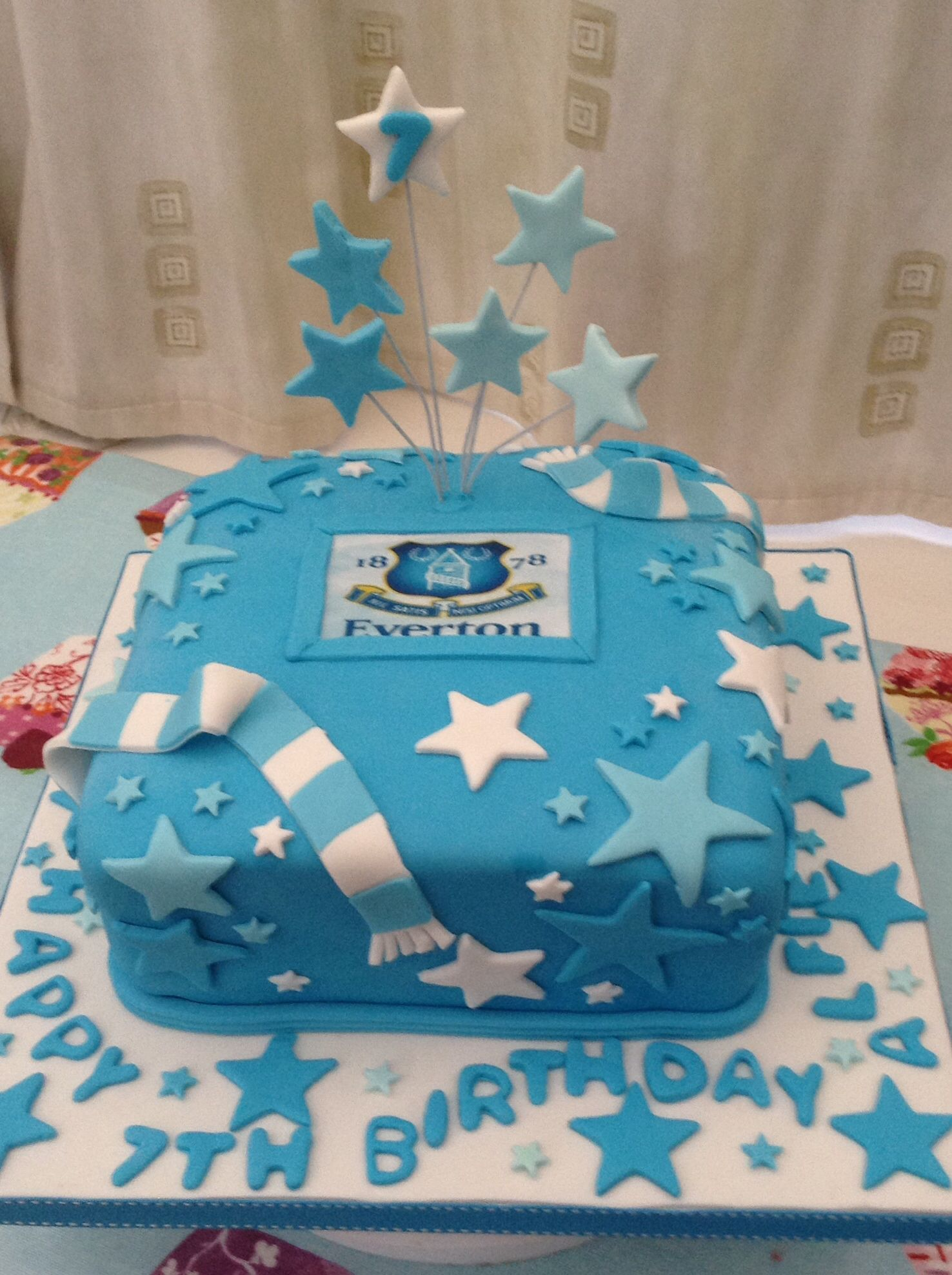 Everton cake Baby V Pinterest Cake Birthday cakes and Cake