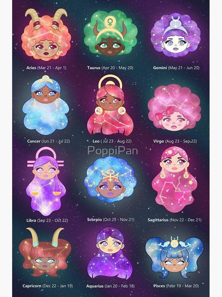 Zodiac Girls Poster Poster