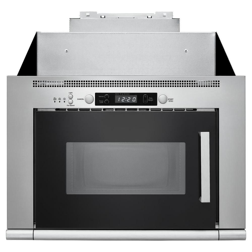 Unbranded 0 7 Cu Ft Over The Range Space Saving Microwave Hood Combination In Stainless Steel Umh50008hs The Home Depot Microwave Hood Range Microwave Stainless Steel Microwave
