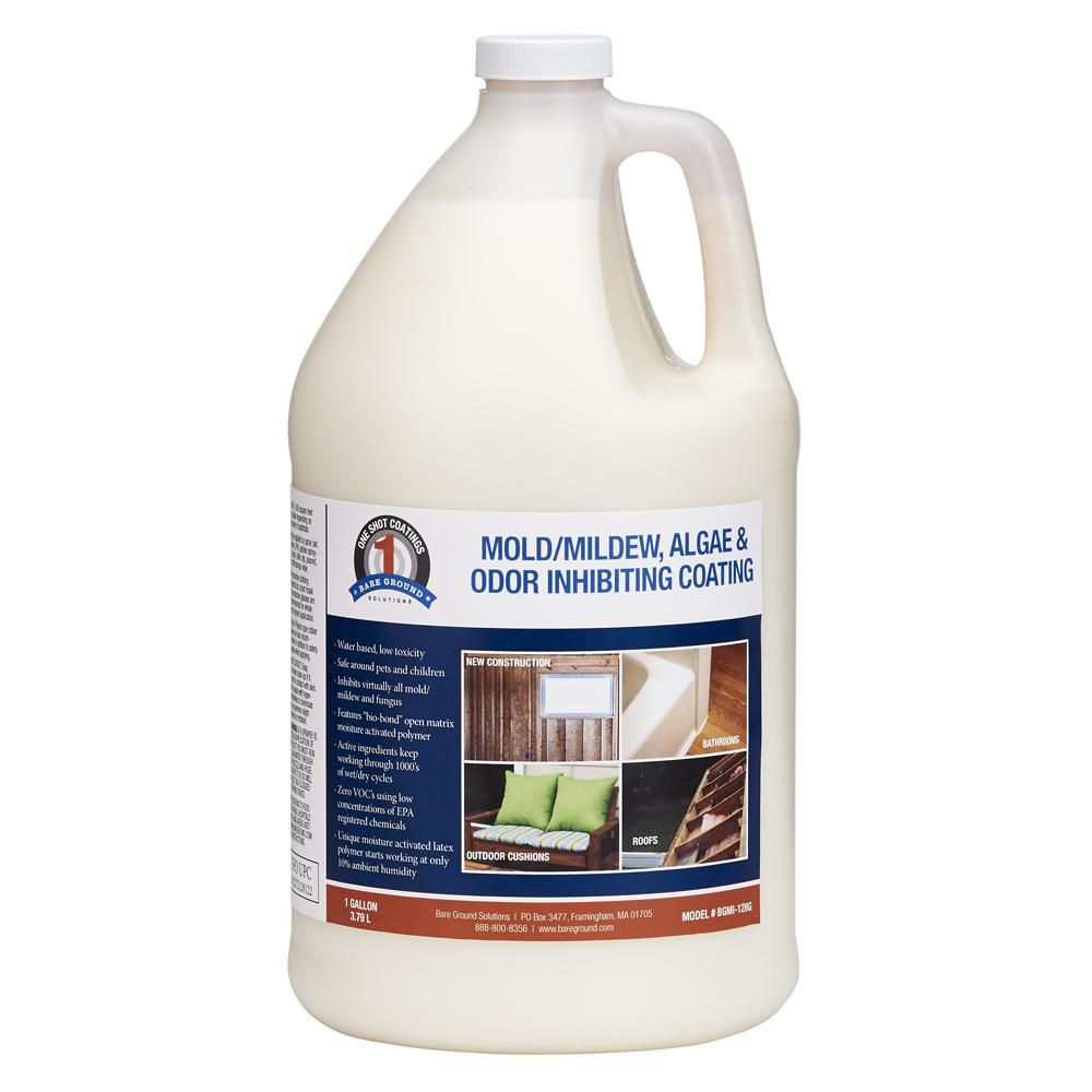 Bare Ground 128 Oz 1 Shot N Gone Mold Mildew Algae Inhibiting Coating Mildew Biodegradable Products Home Depot