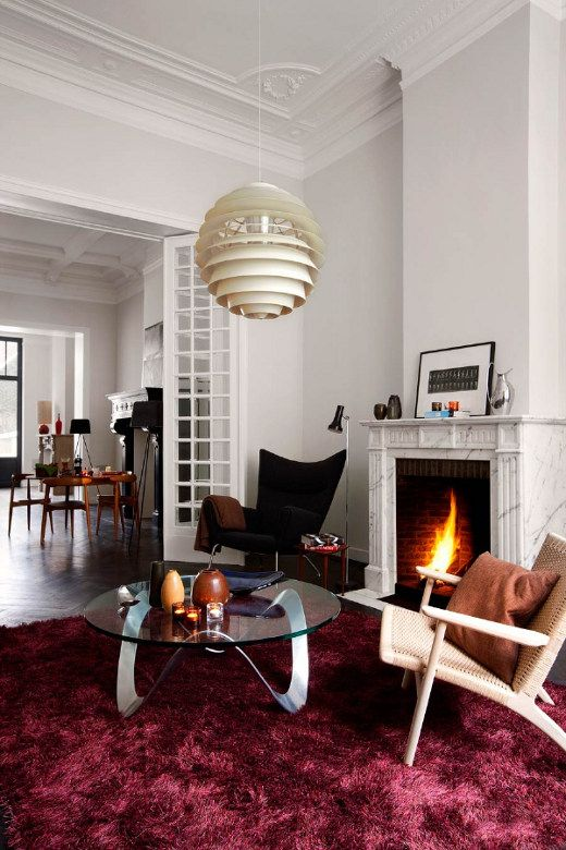 Modern Decor In A Traditional Setting  Don't Love The Rug Or The Adorable Burgundy Living Room Decor Inspiration Design