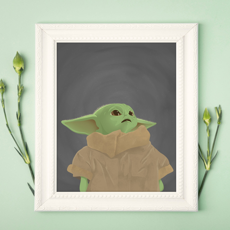 baby yoda poster art print star wars