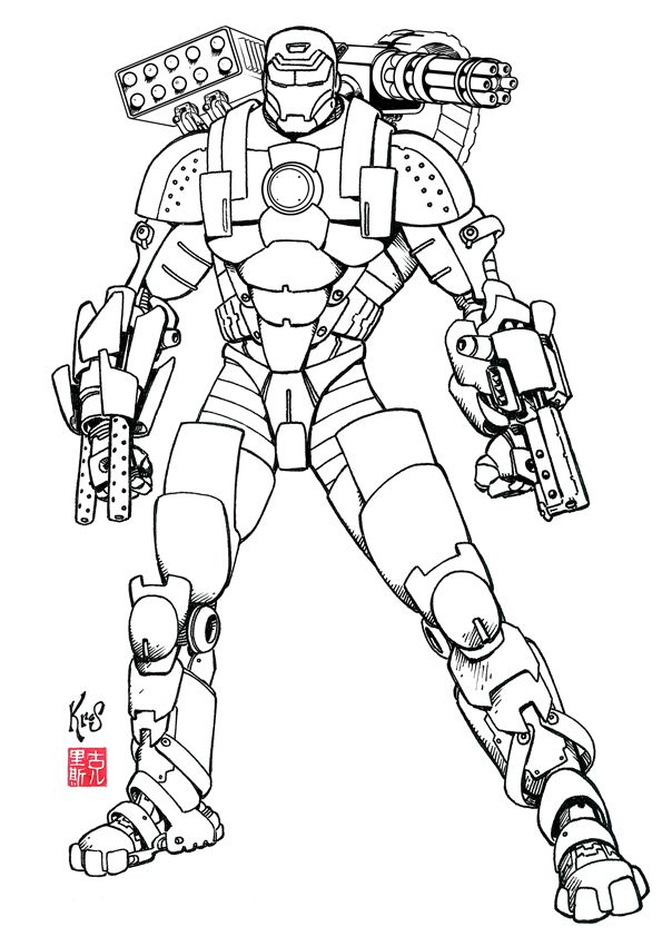 War Machine01 by Fastfood.deviantart.com on @DeviantArt | ลายเส้น-สี ...