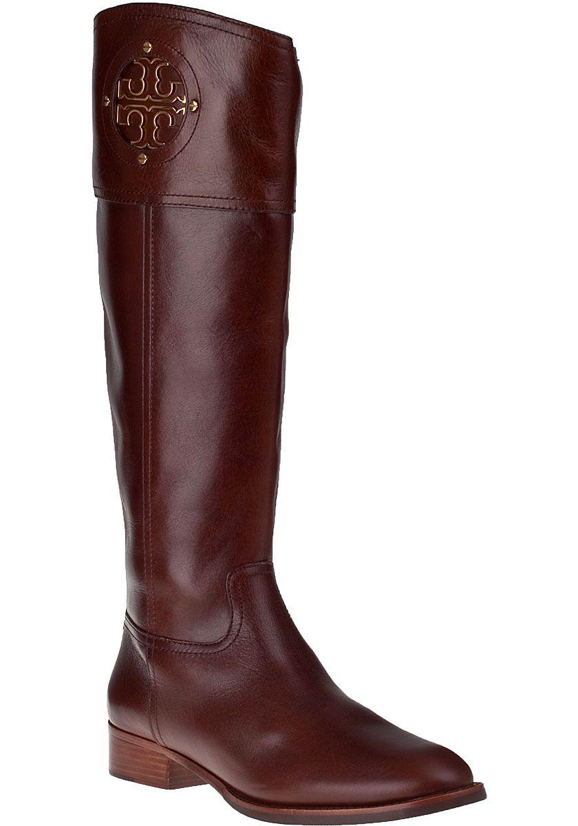 Tory Burch Kiernan Riding Boot Almond Leather   Dressed to Impress ... f928336d4e66