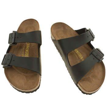 6d856a72b43d84 Womens Black Birkenstock Arizona Sandals