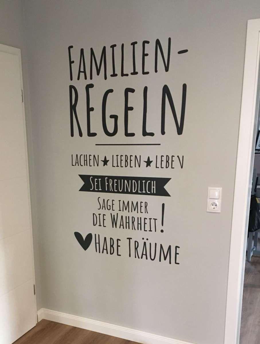 Wandtattoo Familienregeln Familienregeln Wandtattoo Wandtattoos
