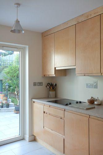 Birch ply kitchen google search kitchens pinterest for Birch veneer kitchen cabinets