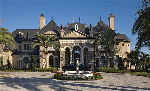 Gorgeous Mansion With Palm Trees What More Could A Girl Want Luxury House Plans Mansions French Castle Interior