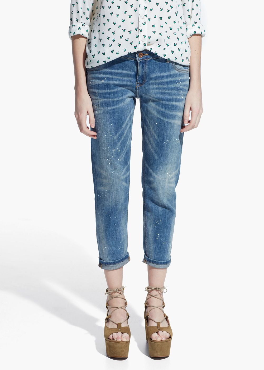 Cropped slim-fit Nancy jeans / Mango