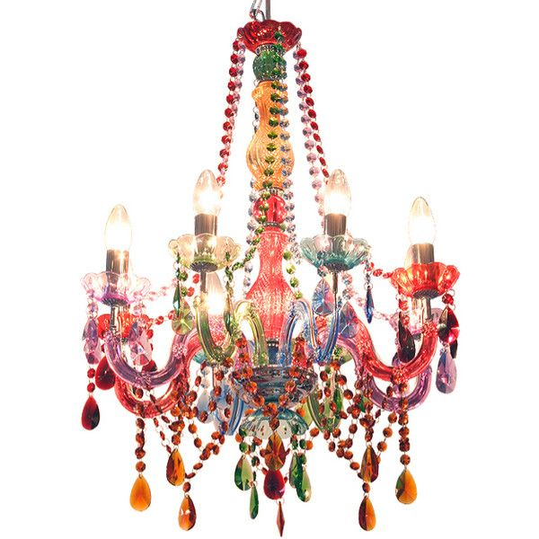 Multi coloured chandelier 790 liked on polyvore featuring home multi coloured chandelier 790 liked on polyvore featuring home lighting ceiling aloadofball Choice Image