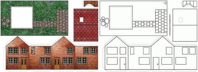 Znalezione Obrazy Dla Zapytania Paper House Template  Papierowe
