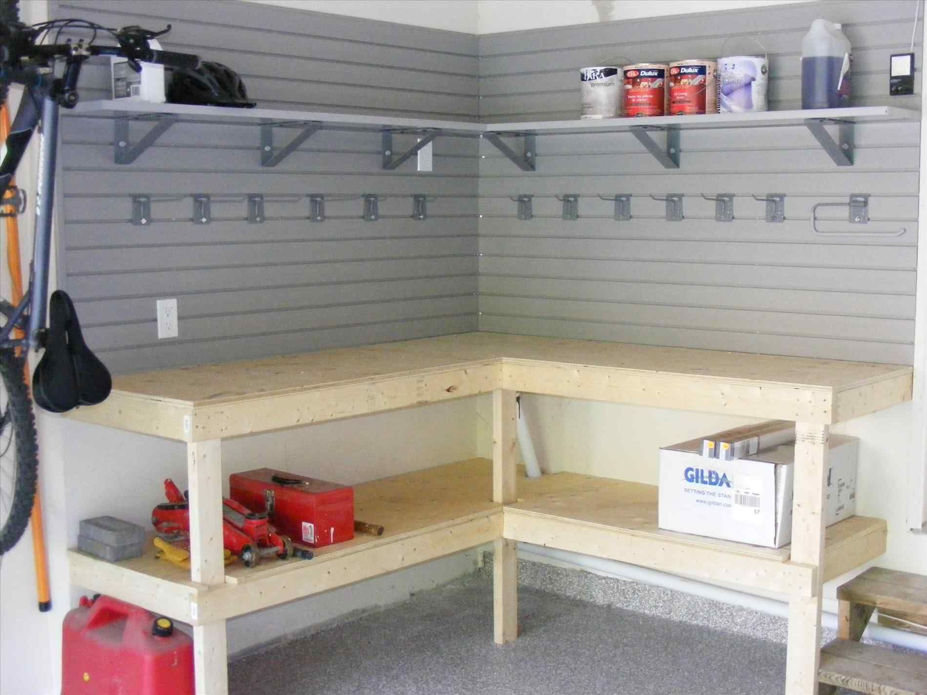 Building A Corner Workbench Google Search Garage Workbench Plans Garage Shelving Diy Garage Shelves
