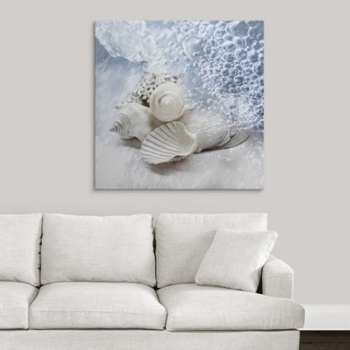Premium Thick-Wrap Canvas Wall Art Print entitled Seashells washed ashore, None