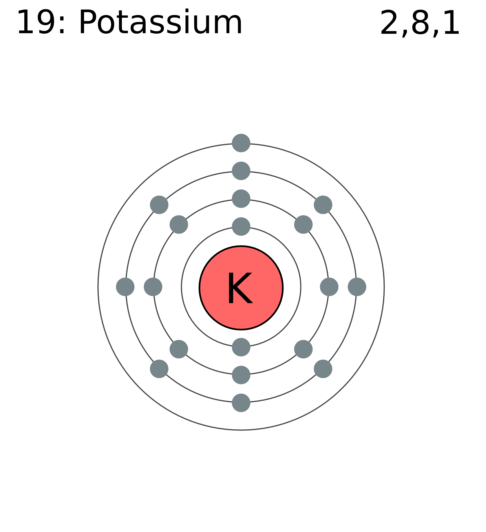 medium resolution of potassium is the third most abundant mineral in human body it is the chemical element with the symbol k atomic number 19 potassium is a very important