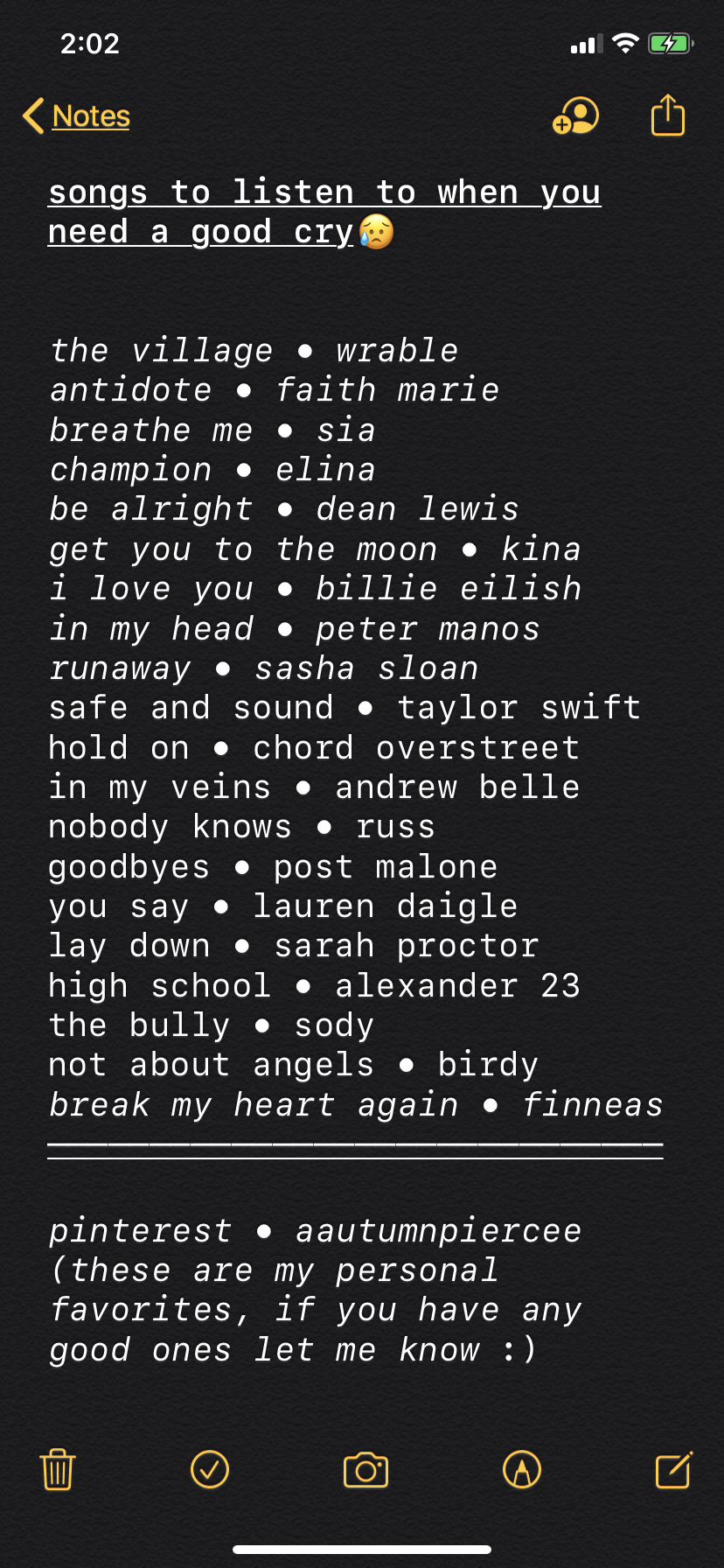 songs to listen to when you need a good cry in 2019 Mood
