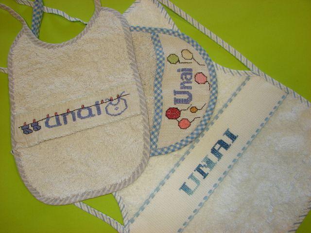 Cómo poner el nombre en la ropa de los niños: Bordado a punto de cruz o cadeneta