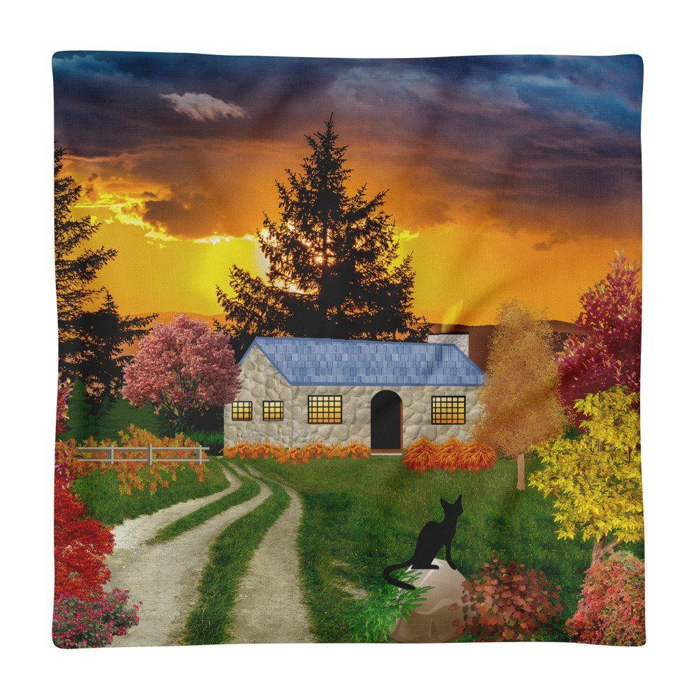 Autumn scene Premium Pillow Case #autumnscenes Autumn scene Premium Pillow Case #autumnscenes
