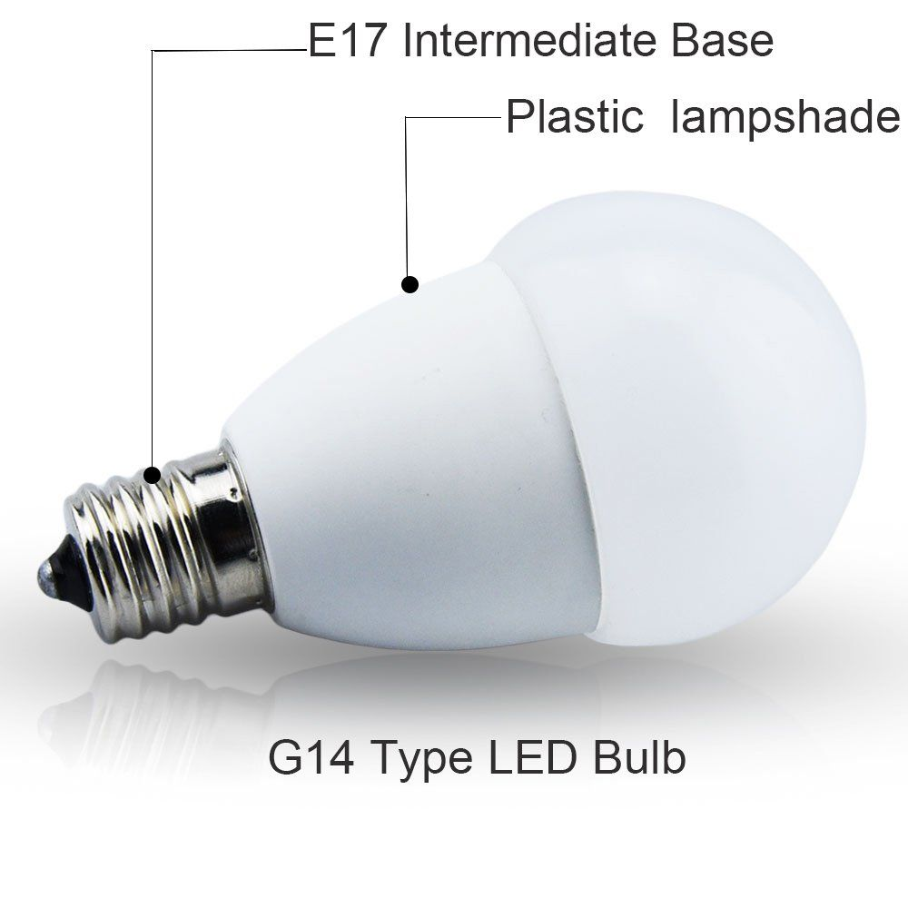 5w E17 Intermediate Base Led Light Bulb G14 Globe Led Lamp 40w Equivalent For Ceiling Fan Headboard Reading Light Warm White Light Bulb Led Bulb Led Light Bulb