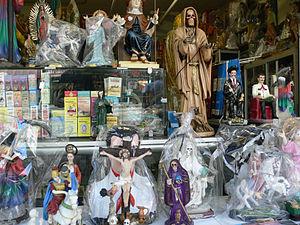 Santa Muerte - Wikipedia | N American (Syn  Faiths) | Santa
