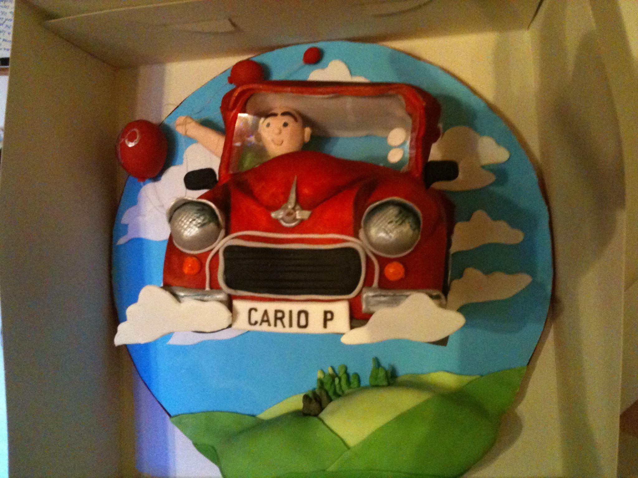 40th birthday Morris Minor car cake Morris minor Pinterest