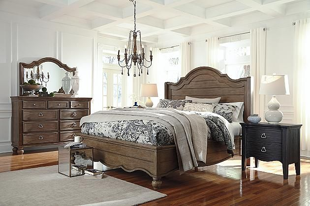 The Tanshire King Panel Bed Is Such A Beauty What A Dreamy Bed