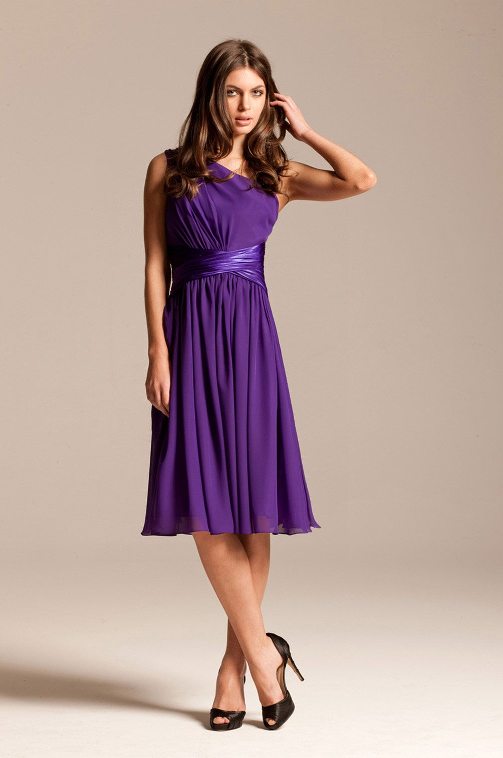 Purple-One-Shoulder-Cocktail-Dress- | My STYLE | Pinterest