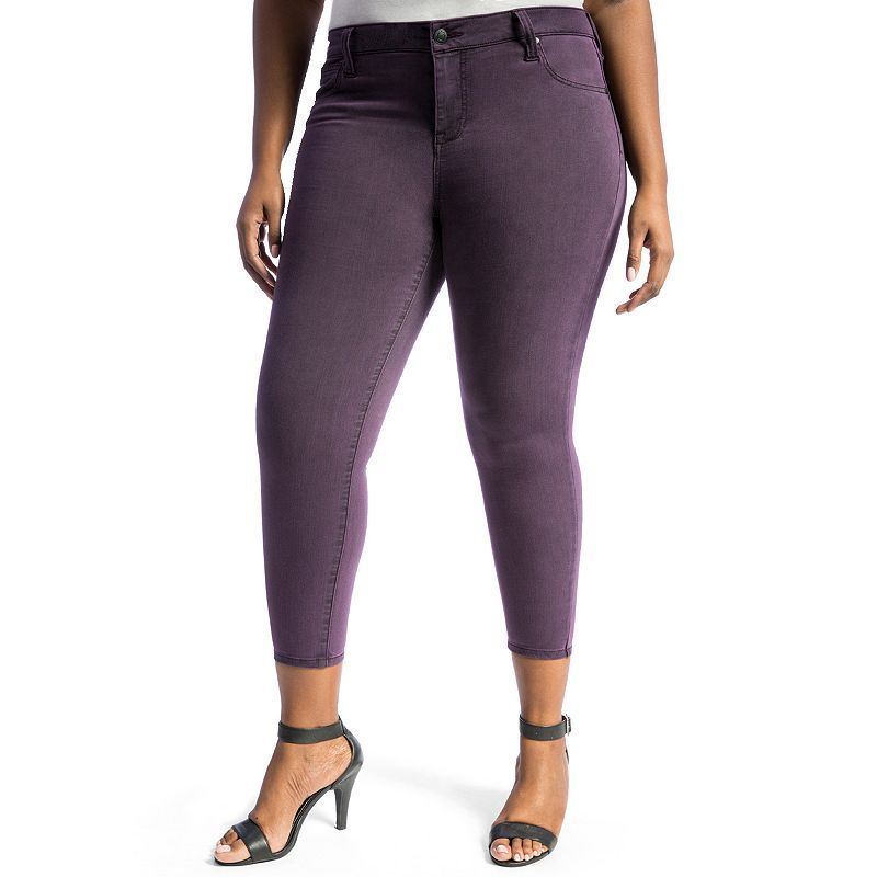 Juniors' Plus Size Crave Colored Ankle Skinny Jeans, Girl's, Size ...