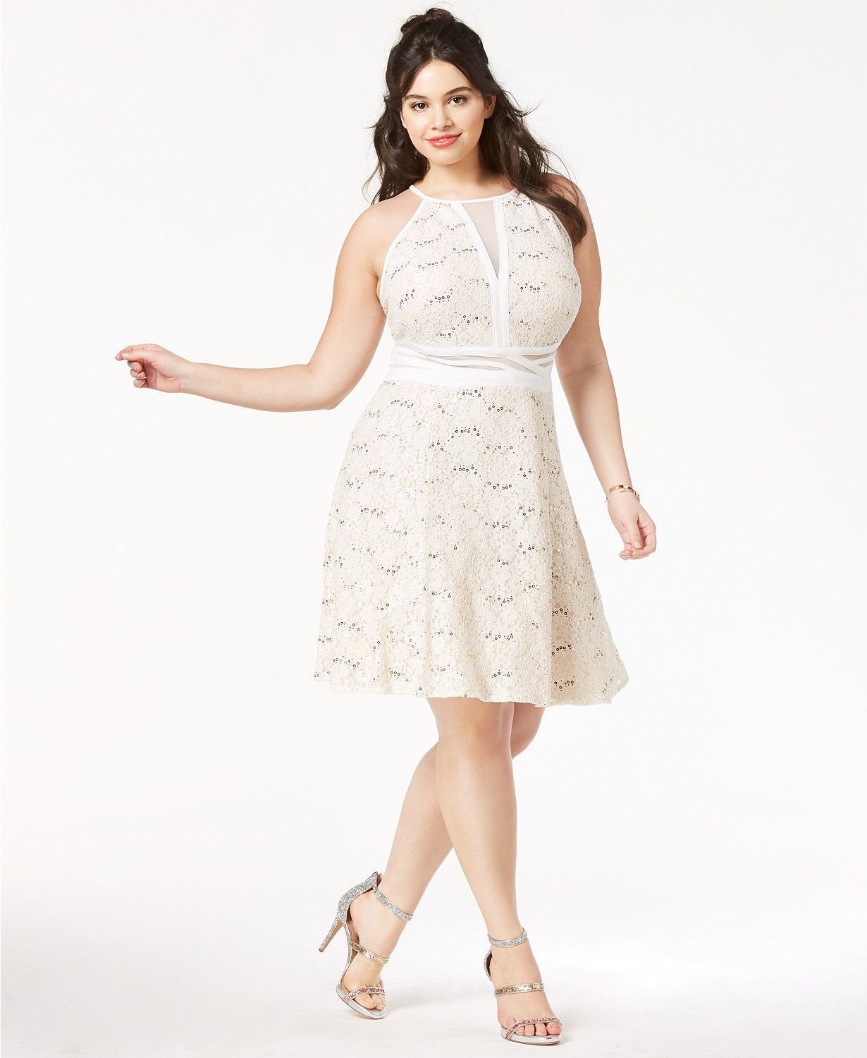 Morgan Company Trendy Plus Size Lace Fit Flare Dress Dresses Plus Sizes Macy S Fit Flare Dress White Flare Dress Trendy Plus Size Clothing [ 1500 x 1230 Pixel ]