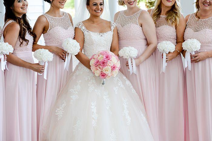 Pretty and romantic light pink blush bridesmaids dresses at Disney\'s ...