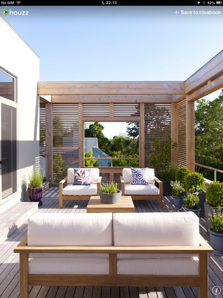 Balcony Shade Design: These Timber Panels Bring Some Privacy And Shade For This
