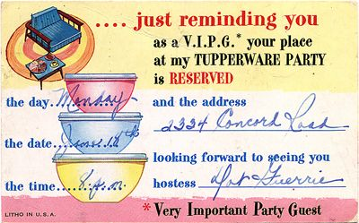 vintage tupperware party invitation my sisters cottage