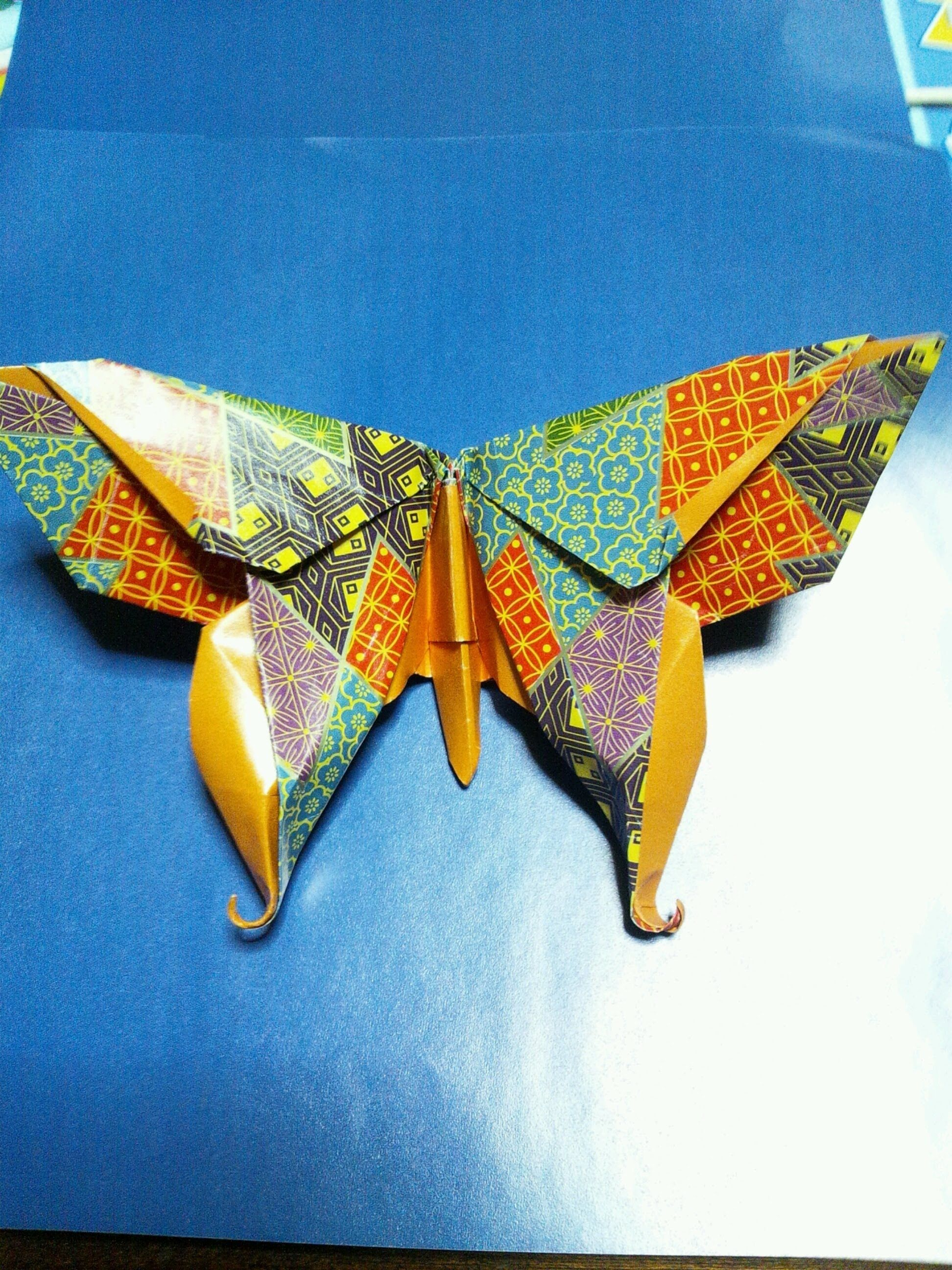 折り紙 「蝶」折り方 origami butterfly - Michael G.lafosse | origami ... - photo#19