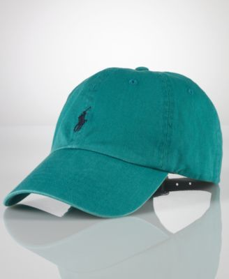 16b8aae26 A good sport: this classic baseball cap in durable washed cotton is  distinguished with Polo's signature embroidered pony at front.