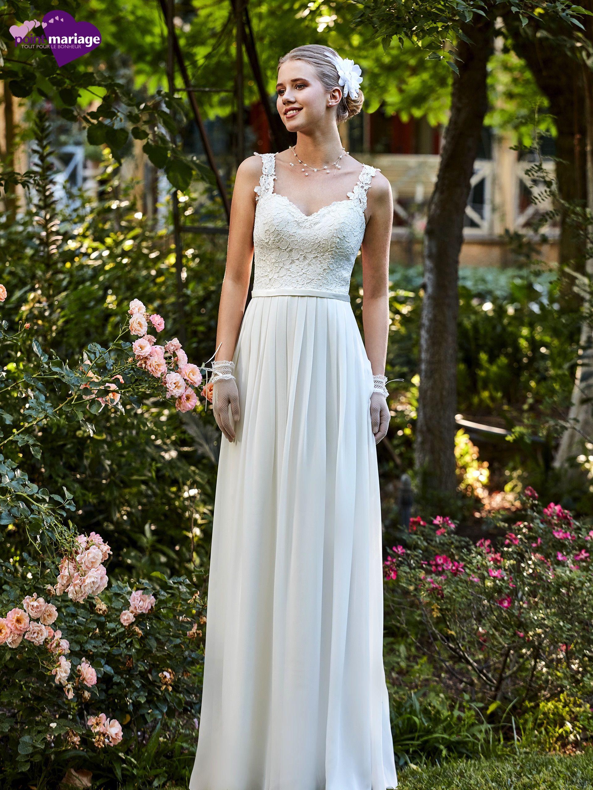 Brautkleid Agata, fließendes Hochzeitskleider - Point Mariage ...