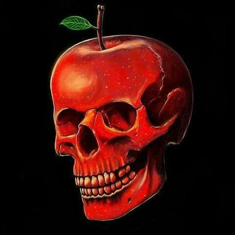 manzana de la tentación skull | Calaveras, Arte oscuro, Arte