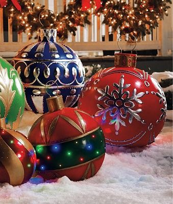 Red Fiber Optic Ornament Frontgate Large Outdoor Christmas Decorations Christmas Yard Decorations Outside Christmas Decorations
