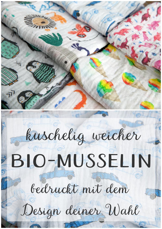 Baumwoll Musselin Double Gauze Folienprint