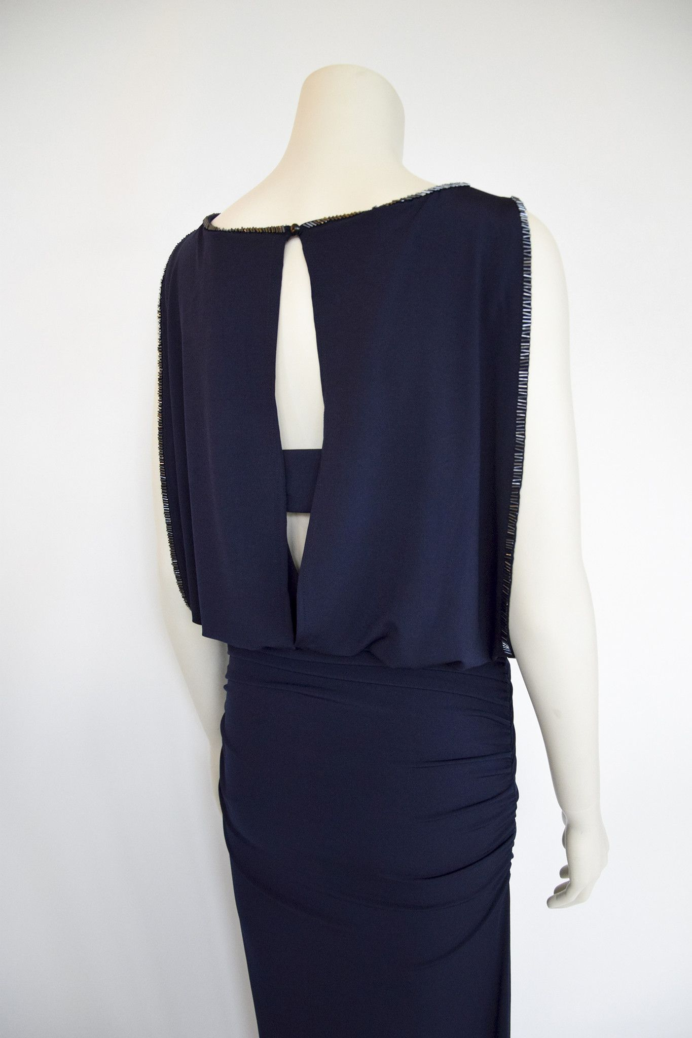 Lang kjole mørkeblå