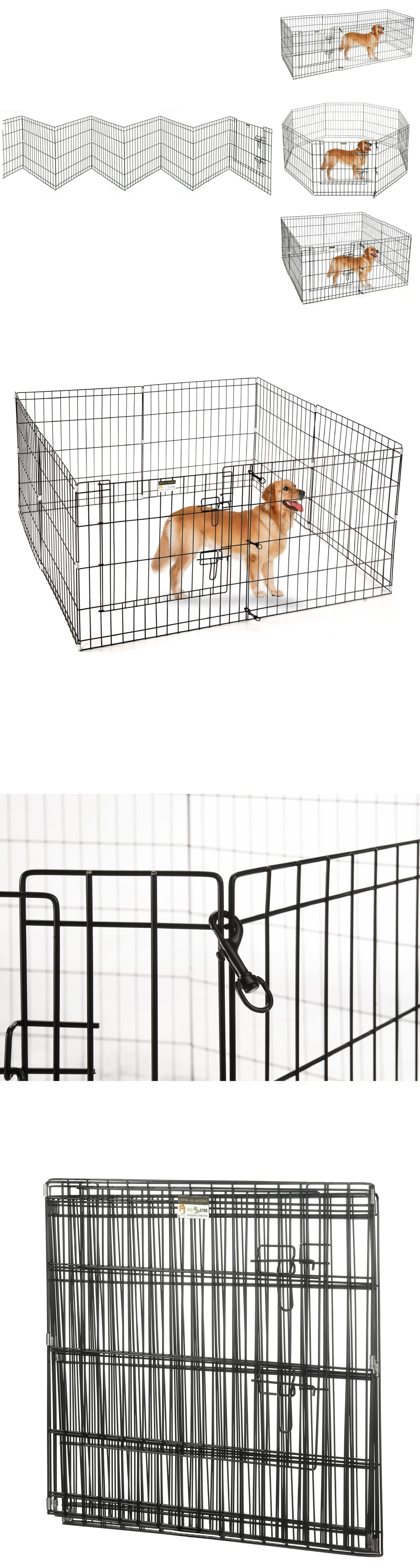 Fences And Exercise Pens 20748: Portable Folding Exercise Pet Playpen Dog  Puppy Fences Gate Home