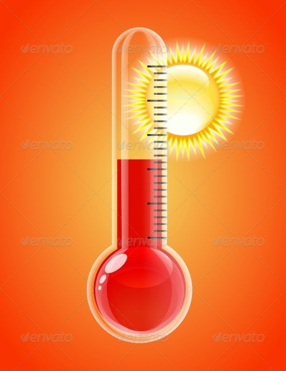 Thermometer With Sun Hot Weather Graphicriver Thermometer With