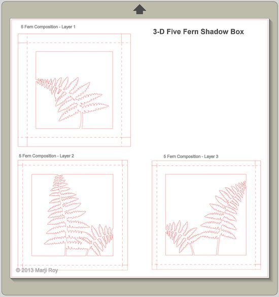 Five Fern Silhouette File By Ashbee Design Marji Roy Templates Pinterest Silhouette Projects Shadow Box And Silhouette Files