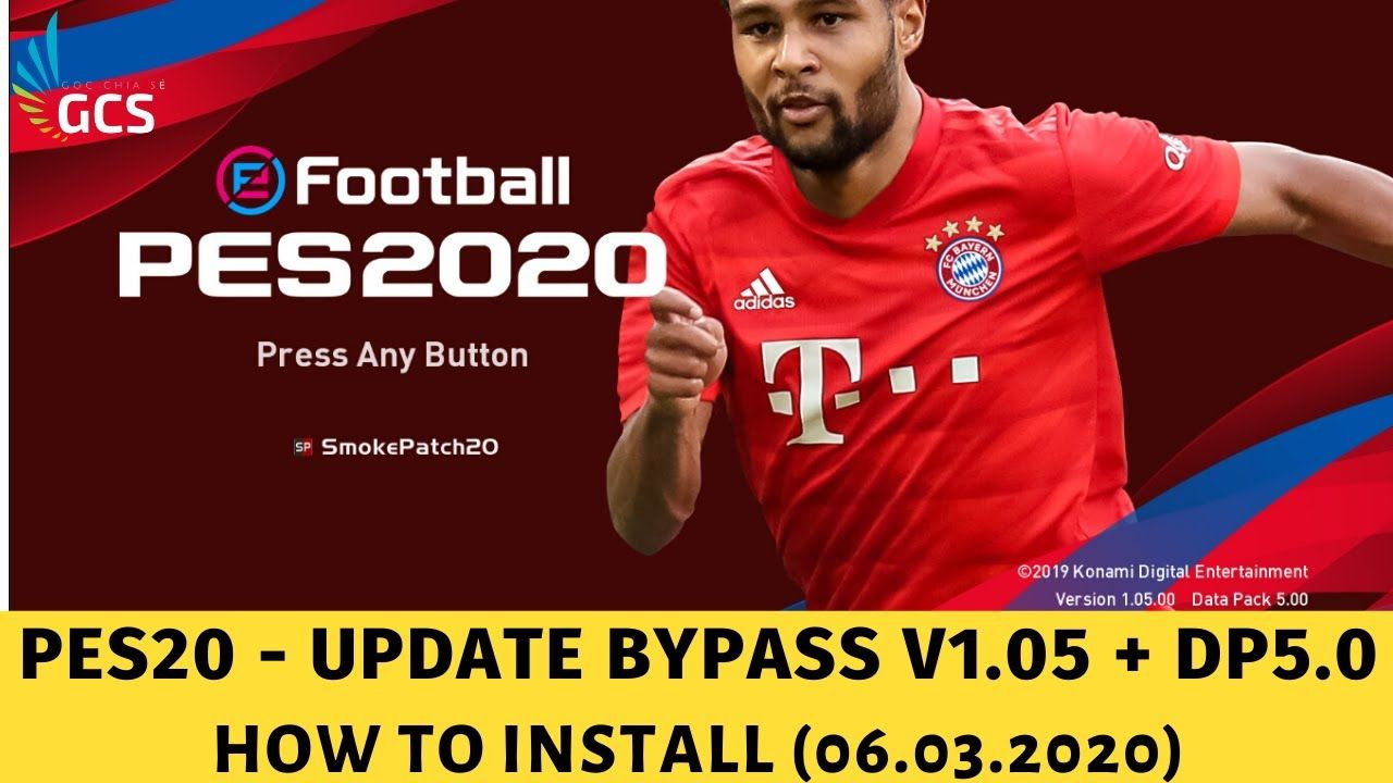 PES 2020 Bypass V1.05.00 + DLC 5.0 How To Install