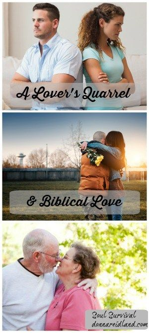 """""""A Lovers' Quarrel & Biblical Love"""" September 3 - What is biblical love and can it enable us to treat someone in a Christ-like way even when the other person is acting selfishly? Soul Survival"""
